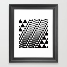 B/W equilateral triangles pattern Framed Art Print