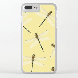 Dragonfly pattern Clear iPhone Case