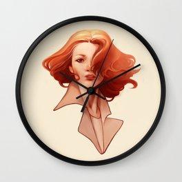 Art Deco Redhead Wall Clock