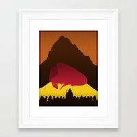 hobbit Framed Art Prints featuring The Hobbit by Benjamagnus
