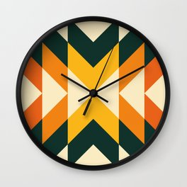 concentric split orange Wall Clock