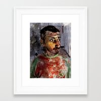 selfie Framed Art Prints featuring Selfie by Jonas Ericson