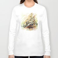 school Long Sleeve T-shirts featuring school by Andreas Derebucha