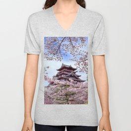 Himeji Castle Unisex V-Neck
