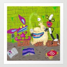 Aaahh Real Monsters Krumm Ickis Oblina Nickelodeon Art Print