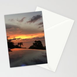 A normal sunset in Thailand Stationery Cards