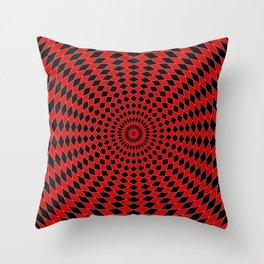 Hypnotic Harlequin Jester Pattern Throw Pillow