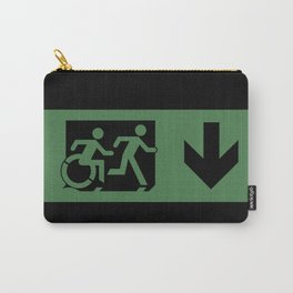Wheelchair Disabled Exit Sign, with Accessible Means of Egress Icon Carry-All Pouch