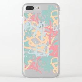 mishmash Clear iPhone Case
