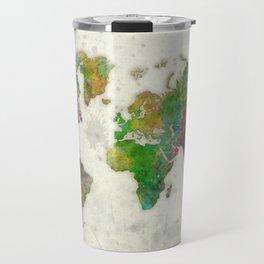 World Map Color Travel Mug