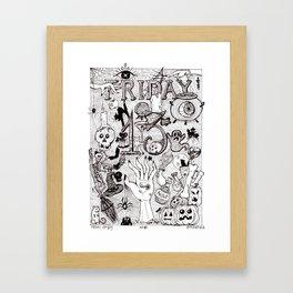 FridayTheThirteenth Framed Art Print