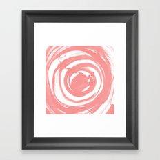 Swirl Rose Pink Framed Art Print