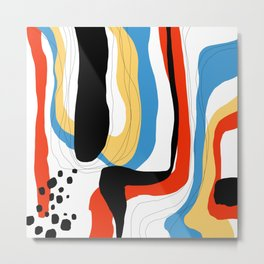 Abstract color shape Metal Print