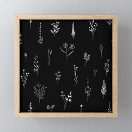 Black wildflowes Big Framed Mini Art Print