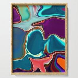 Liquid Color Serving Tray