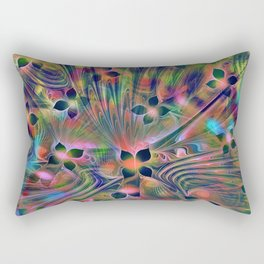 Floral Fractal Rectangular Pillow
