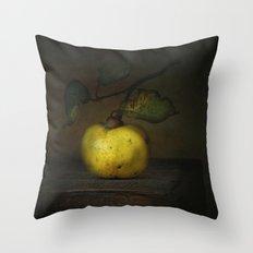 autumn fruit ( quince ) Throw Pillow