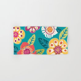 Colorful Flowers Hand & Bath Towel