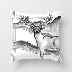 Blue Ridge Deer Throw Pillow