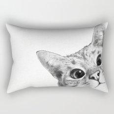 sneaky cat Rectangular Pillow