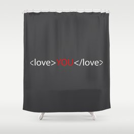 Love you 02 Shower Curtain