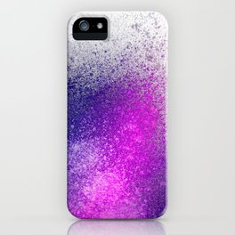 Hot Pink and Purple Paint Splatter iPhone Case