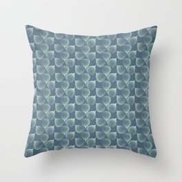 The Silver Breath of Winter Throw Pillow