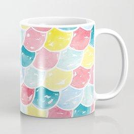 Mermaid Scales | Pink, Blue and Yellow Coffee Mug