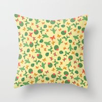 cactus Throw Pillows featuring Cactus by Kakel
