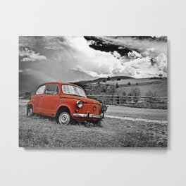 Old Car on the Countryside Metal Print