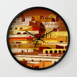The fortress at sunset Wall Clock