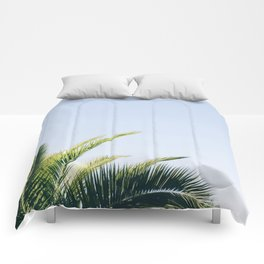 Green Palm Tree Comforters