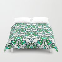 wedding Duvet Covers featuring White Wedding by RokinRonda
