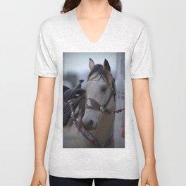 Horse in bridle Unisex V-Neck