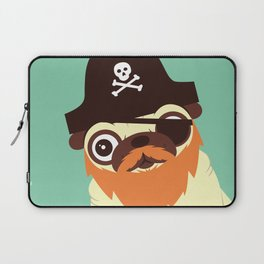 Pug in a crew Laptop Sleeve