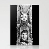 donnie darko Stationery Cards featuring Donnie Darko Scribble Portrait by Gabriel Saint