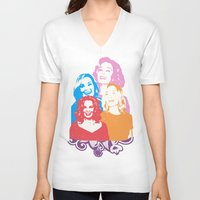 jessica lange V-neck T-shirts featuring Jessica Lange - Her smile is everything by BeeJL