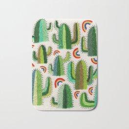 Cacti and Rainbows Bath Mat