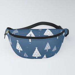Christmas Tree Pattern (Blue) Fanny Pack