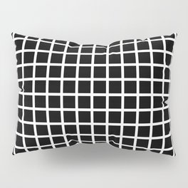 Grid (White & Black Pattern) Pillow Sham
