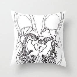 GiraffeLove Throw Pillow