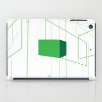 blueprint iPad Cases featuring Blueprint #1 (green) by iamerichiggins