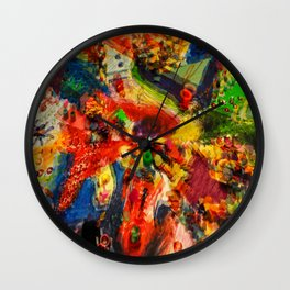 Psychedelic. Wall Clock