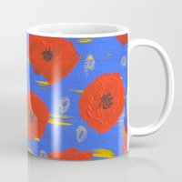poppies Mugs featuring POPPIES by Teresa Chipperfield Studios