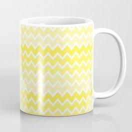 Yellow Ombre Chevron Coffee Mug
