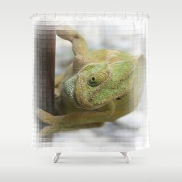 Chameleon: Fifty Shades of Green Shower Curtain