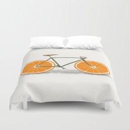 Zest (Orange Wheels) Duvet Cover