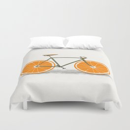 Zest (Orange Wheels) Duvet Cover