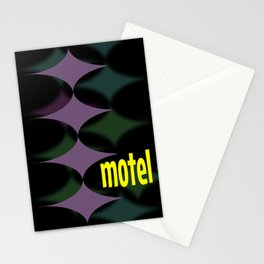 Mid Century Motel Sign Design 1950s Style Artwork Poster Print Stationery Cards