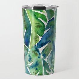Split Leaf Philodendron – Green Travel Mug